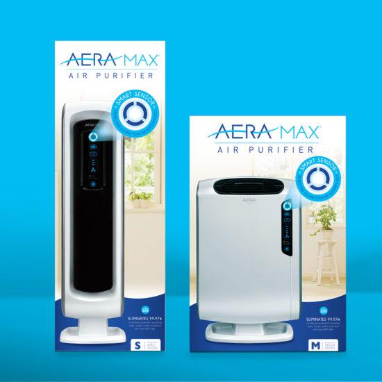 Aeramax Packaging & Brand Design for AeraMax - Air Purification Brand