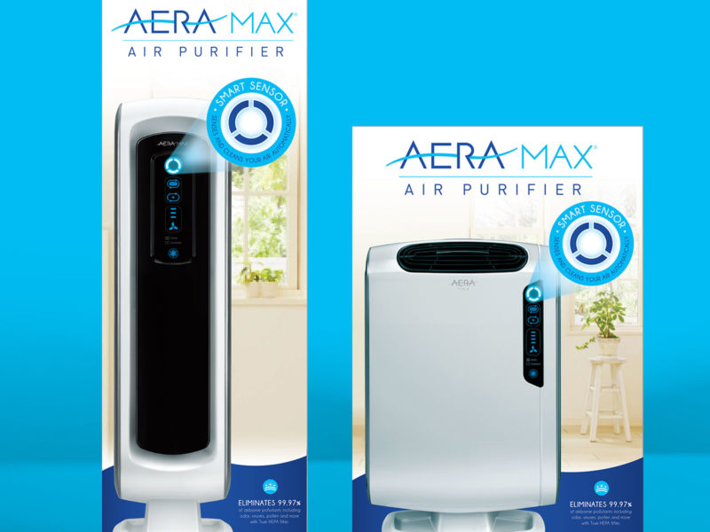 Aeramax Packaging & Brand Design for AeraMax - Air Purification Brand
