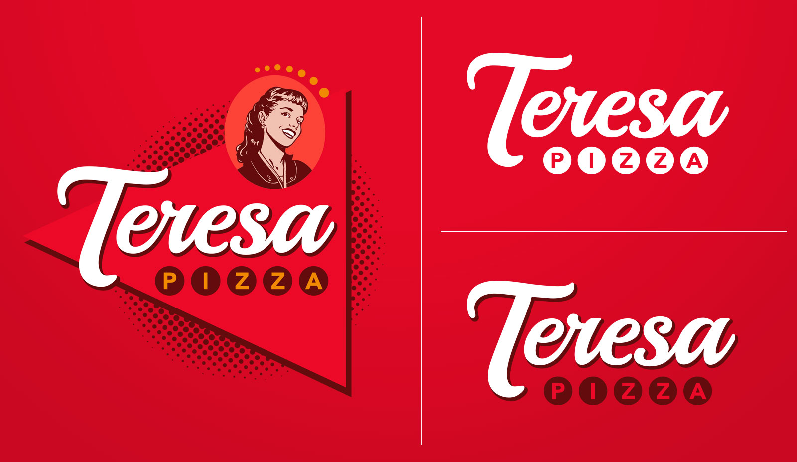 Brand and Logo Design - Teresa Pizza