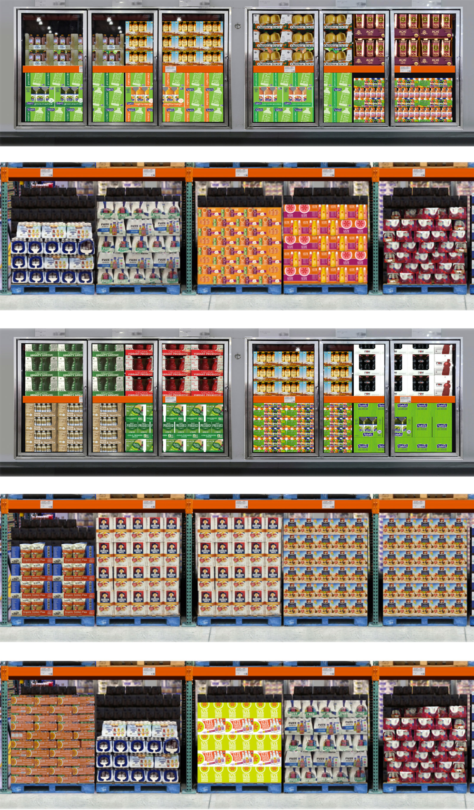 The digital tool allows you to change the pallet or package to reflect different design options and analyze effectiveness.