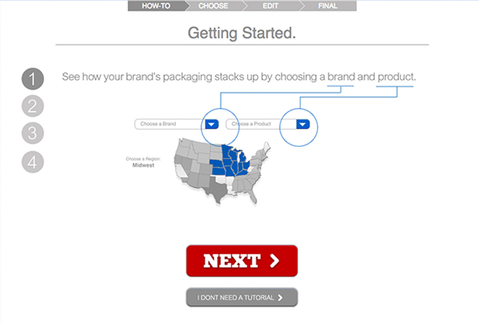 The tool showcases the different Costco zones.