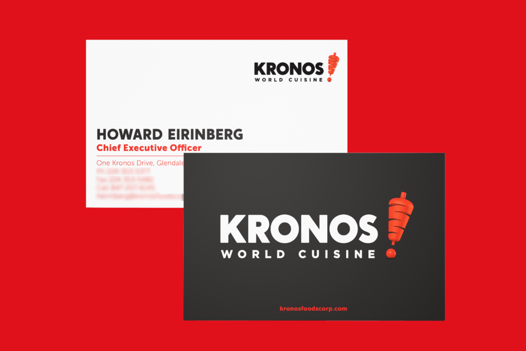 Business Card and identity system design
