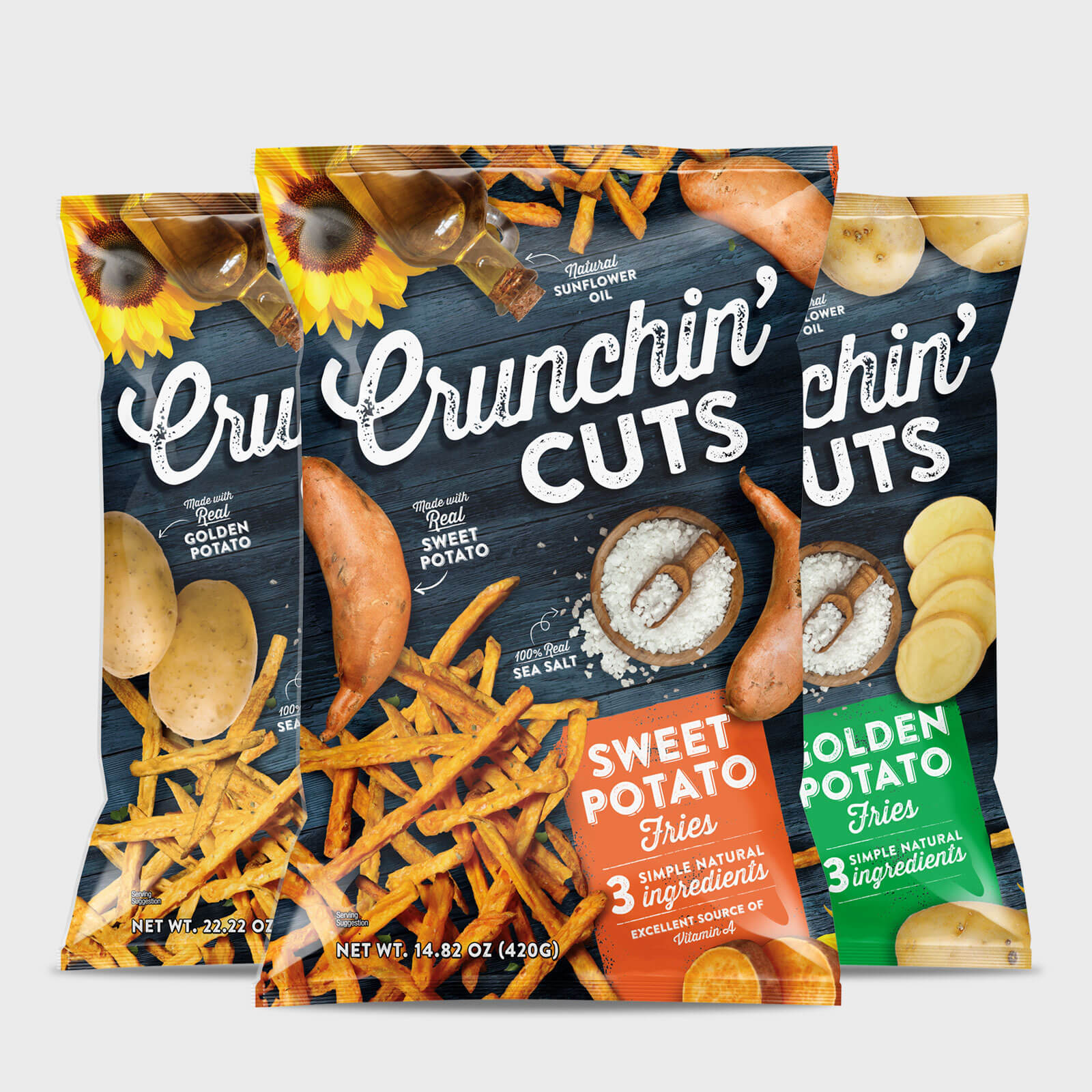 Crunchin Cuts for Hello Delicious - Snack Food Packaging That Sells
