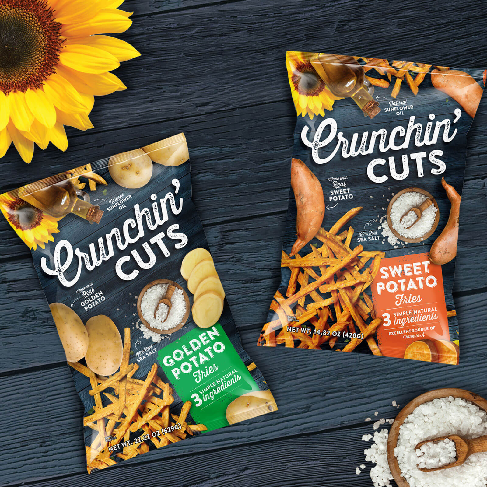 Crunchin Cuts - New Snacks with only 3 REAL ingredients