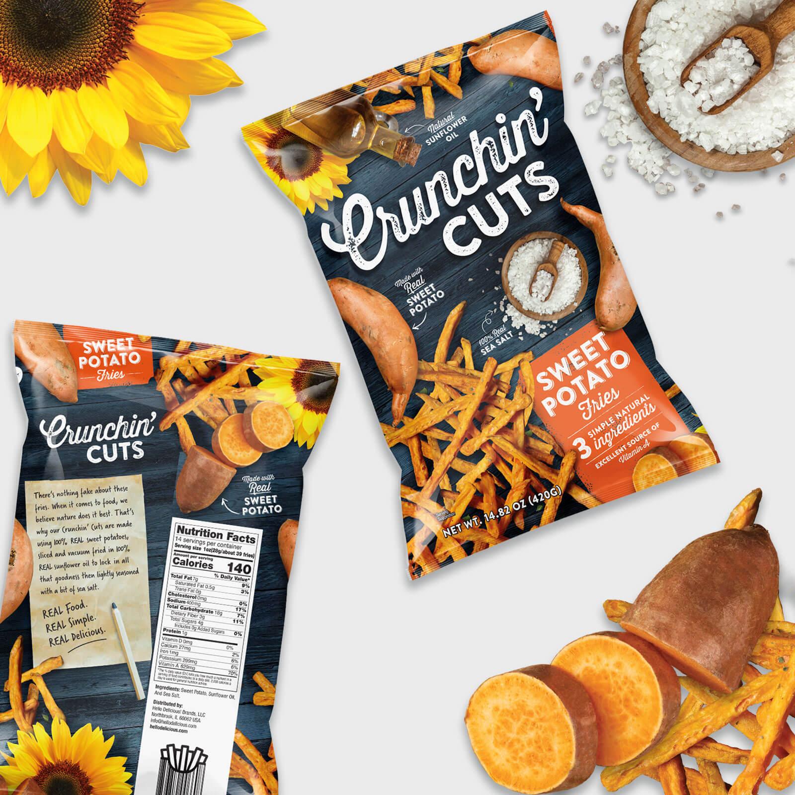 Crunchin Cuts - Sweet Potato Food Packaging