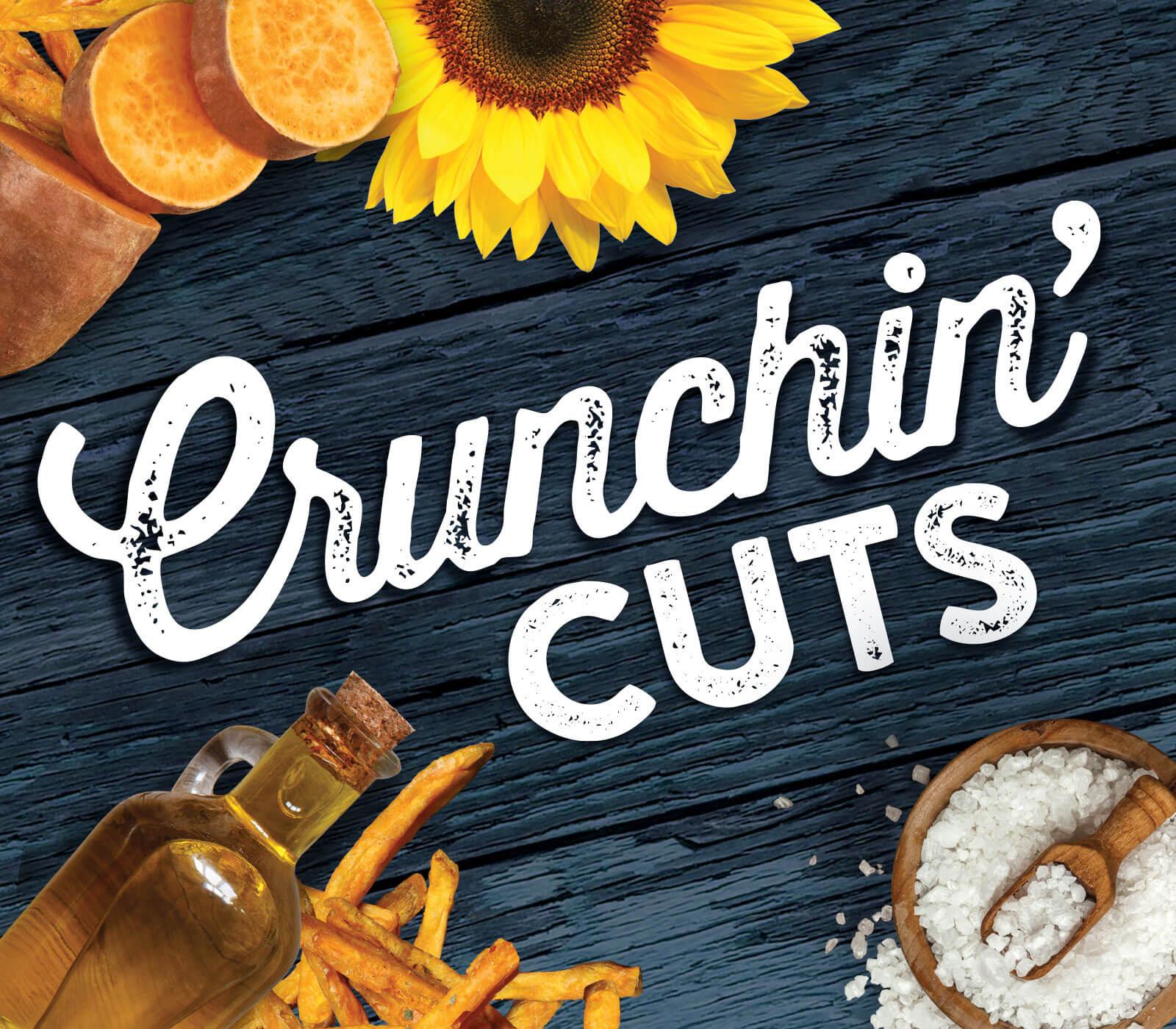 Crunchin Cuts Brand Logo Design