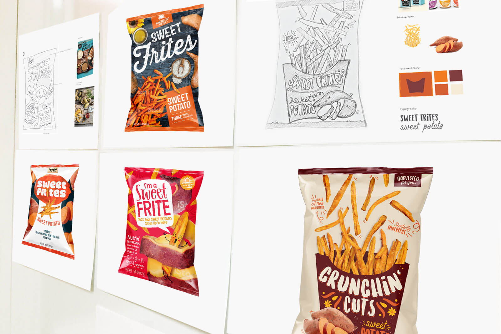 Packaging design concepts are evaluted to ensure they showcase a unique sell point and capture attention on shelf