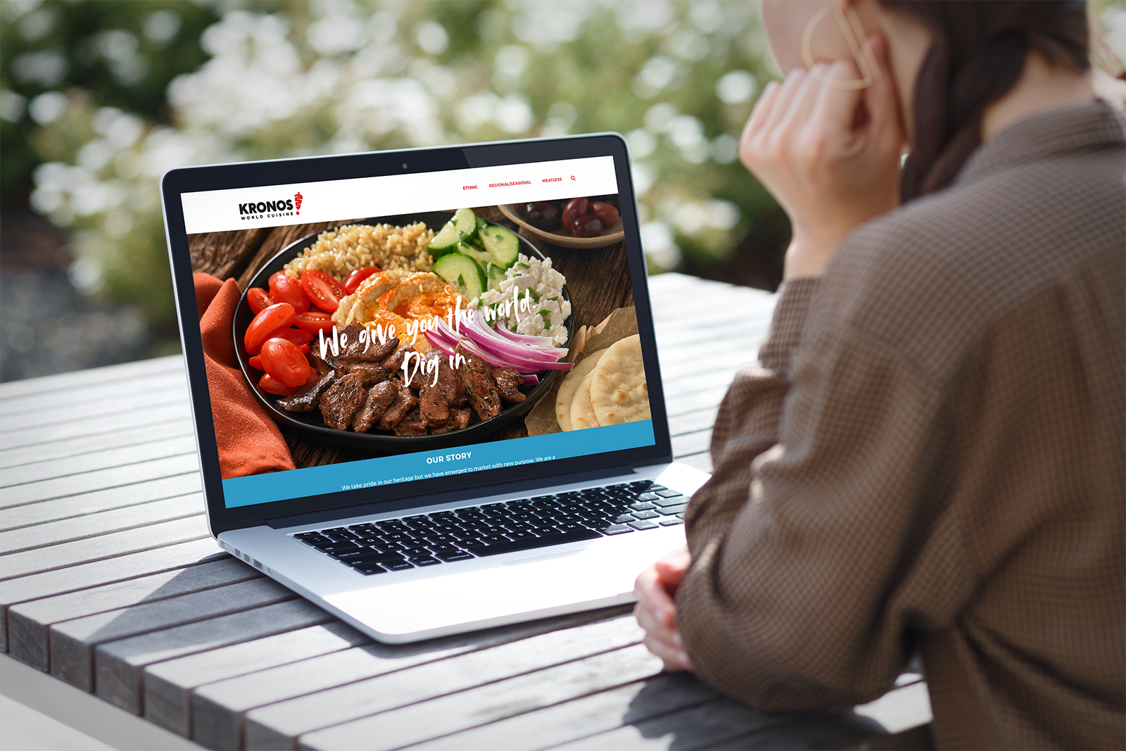 Microsite design for Kronos to explore/explain their new world cuisine