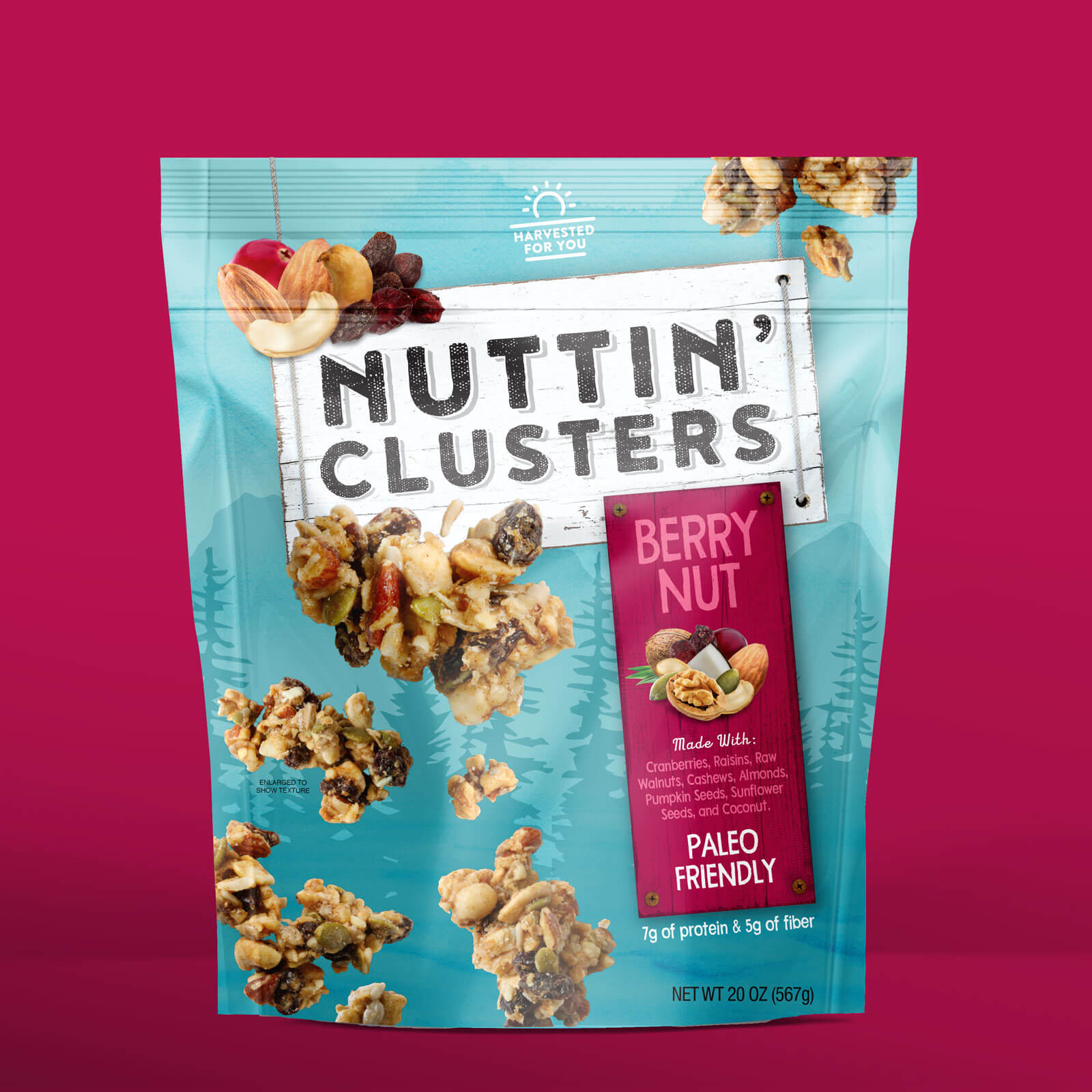 Nuttin Clusters final packaging design