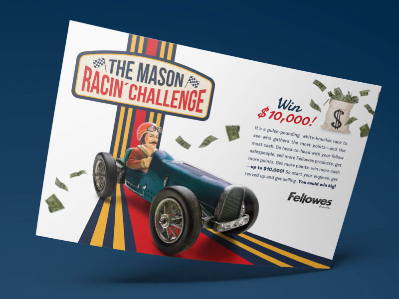 The Mason Racin' Challenge - A retailer specific sales promotion developed for Fellowes Brands